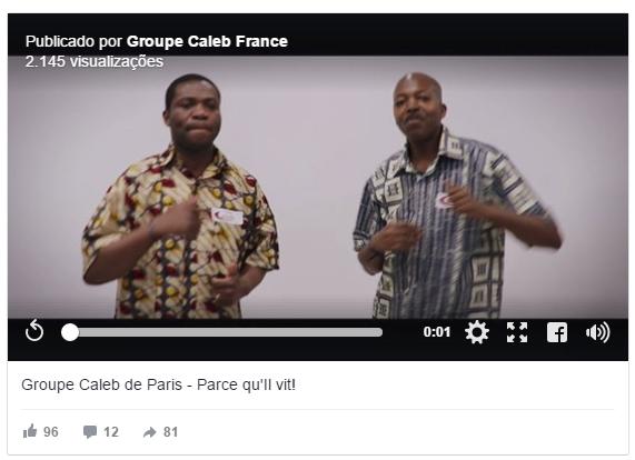 Grupo Calebe na França, integrantes gravam videoclipe musical