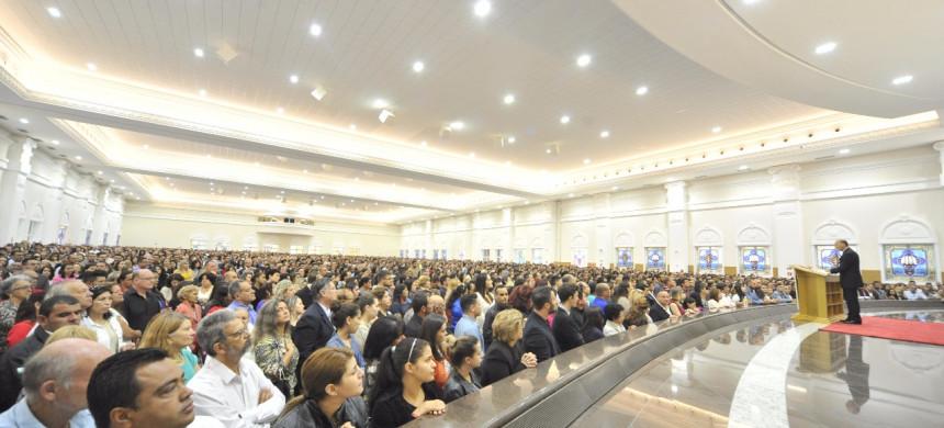 Inauguração do Templo Maior de Curitiba, no Paraná